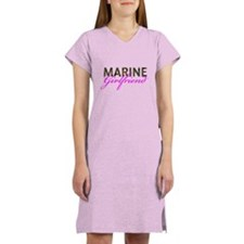 Marine Girlfriend Woodland Women's Nightshirt