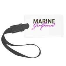Marine Girlfriend Woodland Luggage Tag