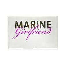 Marine Girlfriend Woodland Rectangle Magnet