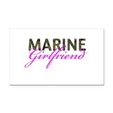 Marine Girlfriend Woodland Rectangle Car Magnet