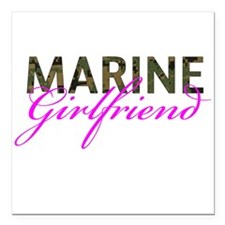 "Marine Girlfriend Woodland Square Car Magnet 3"" x"