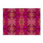 Red and Mauve 5'x7'Area Rug