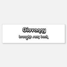 Sexy: Giovanny Bumper Bumper Bumper Sticker