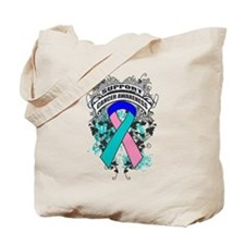 Support Thyroid Cancer Cause Tote Bag