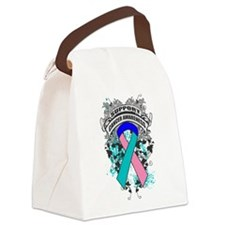Support Thyroid Cancer Cause Canvas Lunch Bag