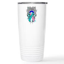 Support Thyroid Cancer Cause Travel Mug