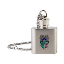 Support Thyroid Cancer Cause Flask Necklace