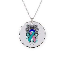 Support Thyroid Cancer Cause Necklace