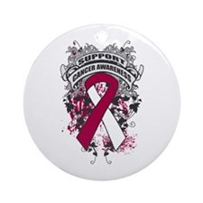 Support Throat Cancer Cause Ornament (Round)