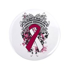"""Support Throat Cancer Cause 3.5"""" Button"""