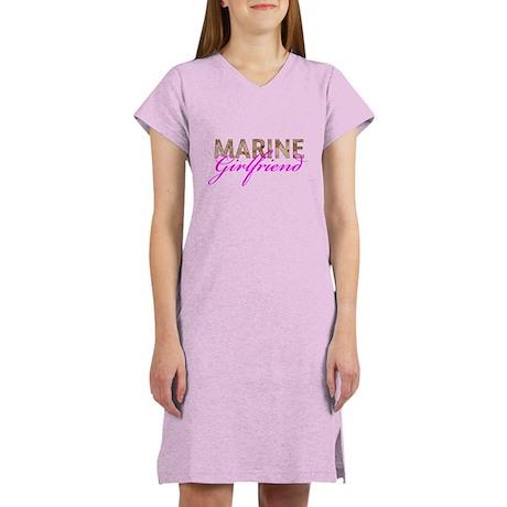 Marine Girlfriend Desert Women's Nightshirt