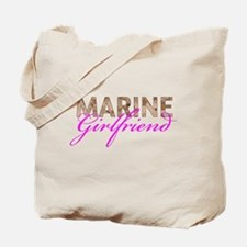 Marine Girlfriend Desert Tote Bag