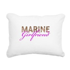 Marine Girlfriend Desert Rectangular Canvas Pillow