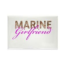 Marine Girlfriend Desert Rectangle Magnet