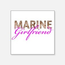 "Marine Girlfriend Desert Square Sticker 3"" x 3"""