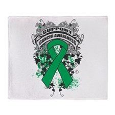 Support Liver Cancer Cause Throw Blanket