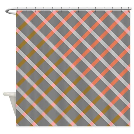 Extra Wide Hookless Shower Curtain Grey Striped Shower Curtain