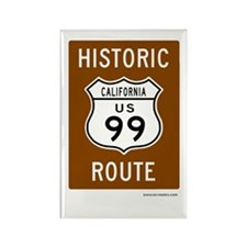 Historic US Route 99 Rectangle Magnet