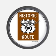 Historic US Route 99 Wall Clock