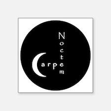 Carpe Noctem - circular edges Sticker