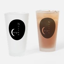 Carpe Noctem - circular edges Drinking Glass
