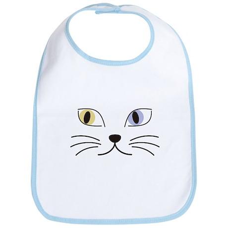 Charming Odd-eyed Cat Bib