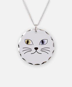 Charming Odd-eyed Cat Necklace