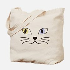 Charming Odd-eyed Cat Tote Bag