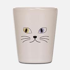 Charming Odd-eyed Cat Shot Glass