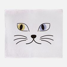Charming Odd-eyed Cat Throw Blanket