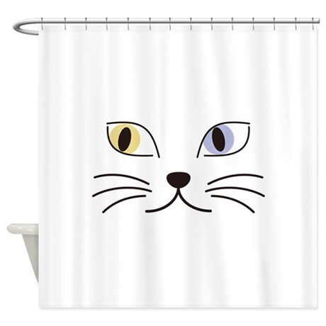 Charming Odd-eyed Cat Shower Curtain