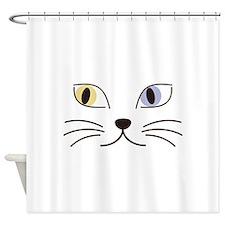 Charming Odd-eyed Cat Shower Curtain