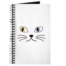 Charming Odd-eyed Cat Journal