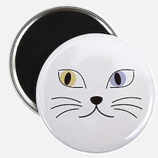 Charming Odd-eyed Cat Magnet