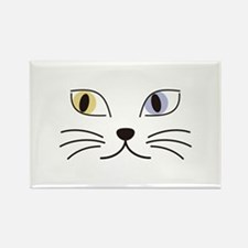 Charming Odd-eyed Cat Rectangle Magnet
