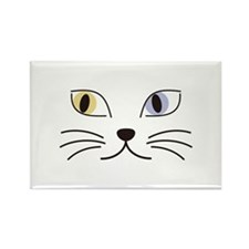 Charming Odd-eyed Cat Rectangle Magnet (100 pack)
