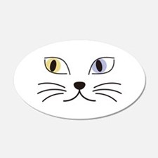 Charming Odd-eyed Cat Wall Decal
