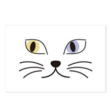 Charming Odd-eyed Cat Postcards (Package of 8)