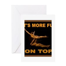 ACROBATS Greeting Card