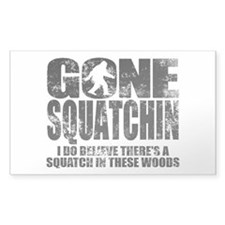 Gone Squatchin (distressed faded) Decal