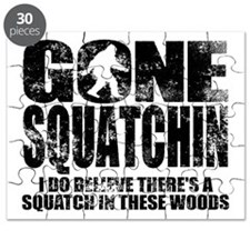 Gone Squatchin (distressed faded) Puzzle
