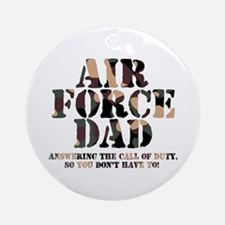 AF Dad Answering Call Ornament (Round)