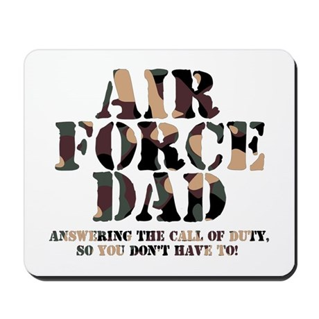 AF Dad Answering Call Mousepad