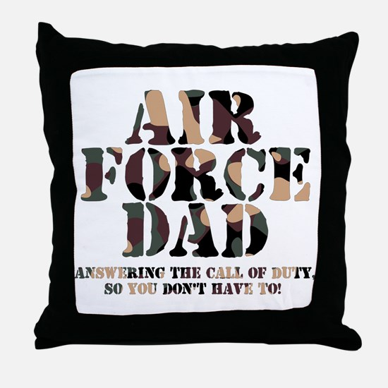 AF Dad Answering Call Throw Pillow