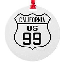 US Route 99 - California Ornament