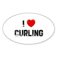 I * Curling Oval Decal