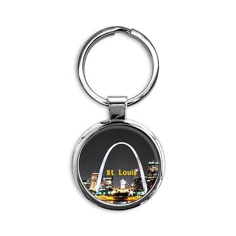 St. Louis Round Keychain