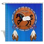 Horse n Arrows Shower Curtain