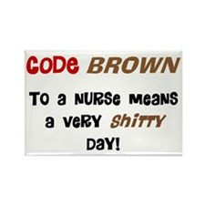 Code Brown Nurse Rectangle Magnet