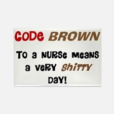 Code Brown Nurse Rectangle Magnet